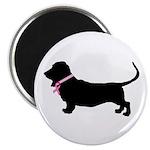 Basset Hound Breast Cancer Support Magnet