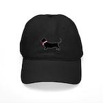 Basset Hound Breast Cancer Support Black Cap