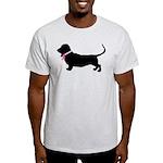 Basset Hound Breast Cancer Support Light T-Shirt