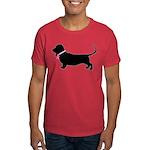 Basset Hound Breast Cancer Support Dark T-Shirt