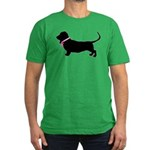 Basset Hound Breast Cancer Support Men's Fitted T-