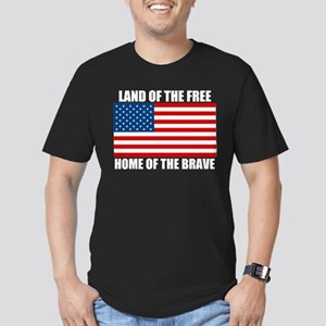Home of the Brave Men's Fitted T-Shirt (dark)