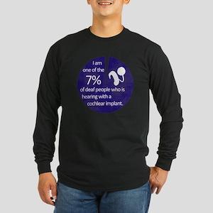 7 Percent Long Sleeve Dark T-Shirt