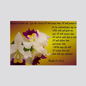Psalm 91 Rectangle Magnet