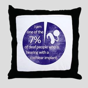 7 Percent Throw Pillow