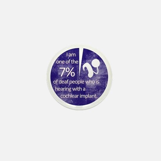 7 Percent Mini Button