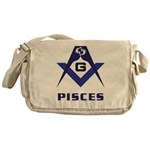 Masonic Pisces Sign Messenger Bag
