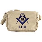 Masonic Leo Sign Messenger Bag