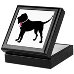 Bloodhound Breast Cancer Support Keepsake Box