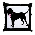 Bloodhound Breast Cancer Support Throw Pillow