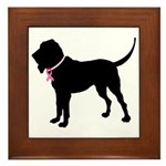 Bloodhound Breast Cancer Support Framed Tile