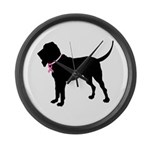 Bloodhound Breast Cancer Support Large Wall Clock