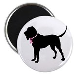 Bloodhound Breast Cancer Support Magnet