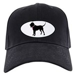 Bloodhound Breast Cancer Support Black Cap
