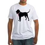 Bloodhound Breast Cancer Support Fitted T-Shirt
