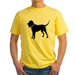 Bloodhound Breast Cancer Support Yellow T-Shirt