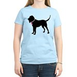 Bloodhound Breast Cancer Support Women's Light T-S