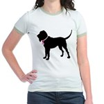 Bloodhound Breast Cancer Support Jr. Ringer T-Shir