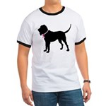 Bloodhound Breast Cancer Support Ringer T