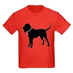 Bloodhound Breast Cancer Support Kids Dark T-Shirt