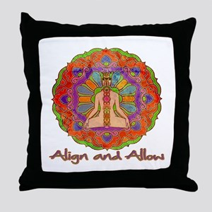 Align and Allow Throw Pillow