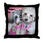 Lowechen - Puppy Love - Throw Pillow