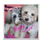 Lowechen Puppy Love - Tile Coaster