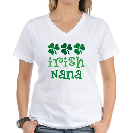 Irish Nana St Patrick's Day Women's V-Neck T-Shirt