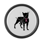 Boston Terrier Breast Cancer Support Large Wall Cl