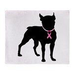 Boston Terrier Breast Cancer Support Stadium Blan