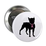 Boston Terrier Breast Cancer Support 2.25