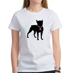 Boston Terrier Breast Cancer Support Women's T-Shi