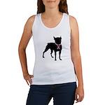 Boston Terrier Breast Cancer Support Women's Tank