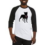 Boston Terrier Breast Cancer Support Baseball Jers