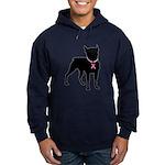 Boston Terrier Breast Cancer Support Hoodie (dark)