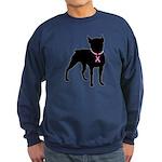 Boston Terrier Breast Cancer Support Sweatshirt (d