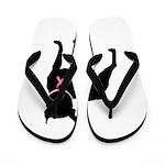 Boston Terrier Breast Cancer Support Flip Flops