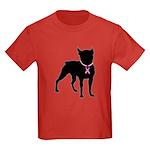 Boston Terrier Breast Cancer Support Kids Dark T-S