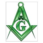 Masonic Shamrock with the S&C Small Poster
