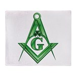 Masonic Shamrock with the S&C Throw Blanket