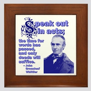 Speak Out In Acts Framed Tile