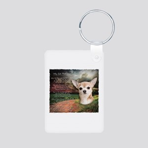 """Why God Made Dogs"" Chihuahua Aluminum Photo Keych"