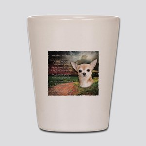 """Why God Made Dogs"" Chihuahua Shot Glass"