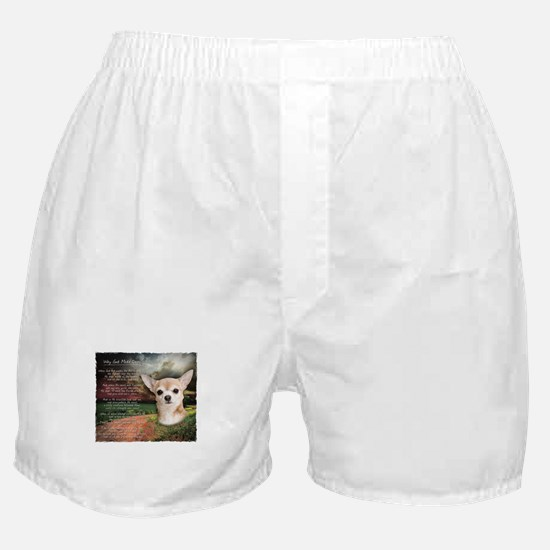 """""""Why God Made Dogs"""" Chihuahua Boxer Shorts"""