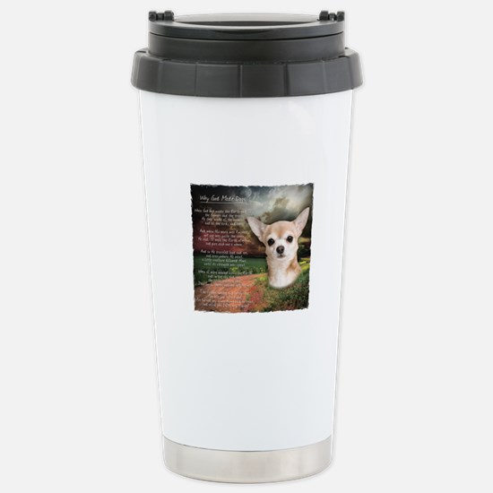 """""""Why God Made Dogs"""" Chihuahua Stainless Steel Trav"""