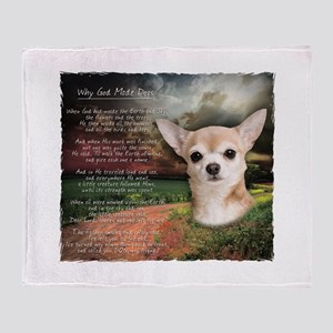 """Why God Made Dogs"" Chihuahua Throw Blanket"