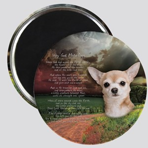 """Why God Made Dogs"" Chihuahua Magnet"