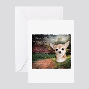 """""""Why God Made Dogs"""" Chihuahua Greeting Card"""