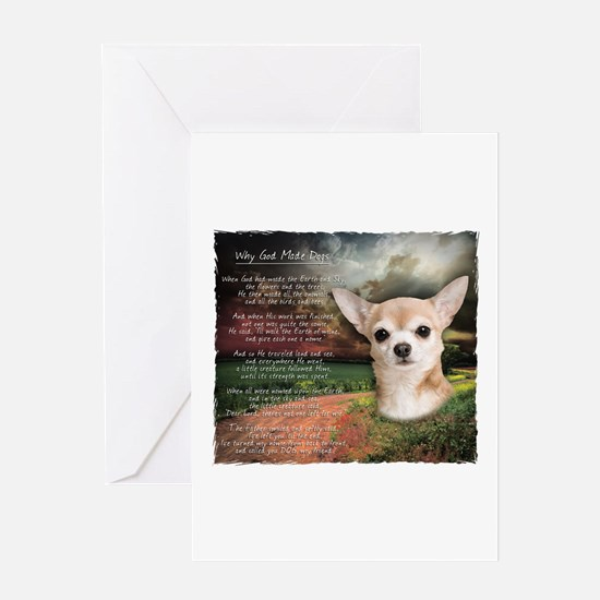 """Why God Made Dogs"" Chihuahua Greeting Card"
