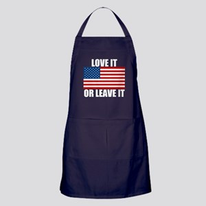Love it or Leave it Apron (dark)